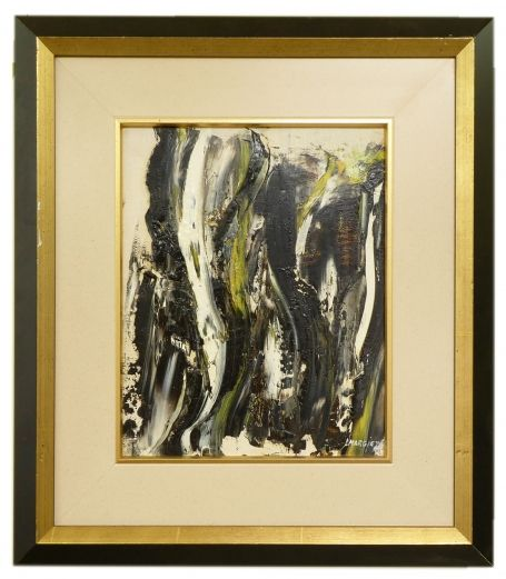 Abstract zwart wit en groen 1976