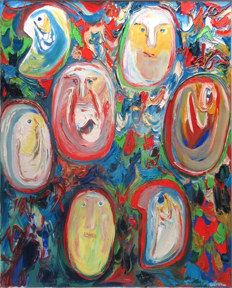 Buy the 7 dwarfs from Snow White painting by Finn Pedersen