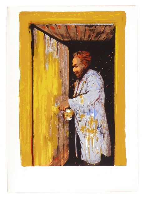 Vincent painting his door while waiting for Gauguin 6/150