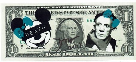 1 Dollar Mickey Pablo Picasso Death 2017