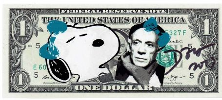 1 Dollar Snoopy Pablo Picasso 2017