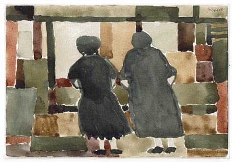 Two woman at the window 1958