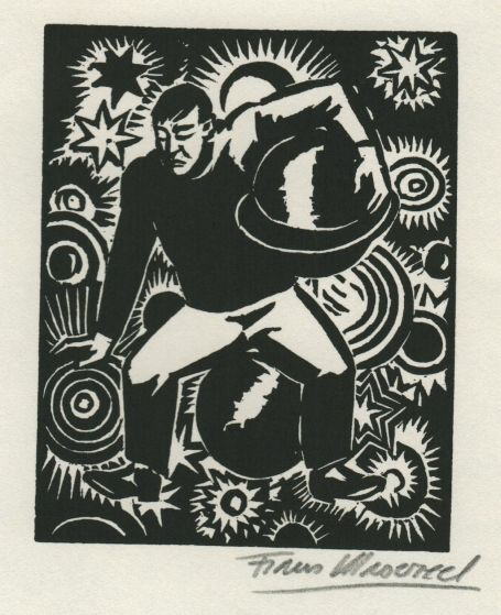 Woodcut by Belgian artist Frans Masereel from the work l'oeuvre from 1928